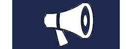 Loudspeaker-air-horn-logo-for-Harker-and-Bullman-Dorset-Lettings